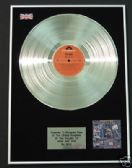 THE WHO - LP Platinum Disc -  WHO ARE YOU